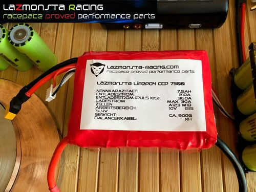 LAZMONSTA RACING LIFEPO4 CCP 5000-10000 BATTERIE